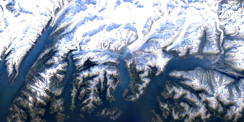 Avec Timelapse, Google Earth remonte près de quarante ans de transformation de la Terre en images satellites