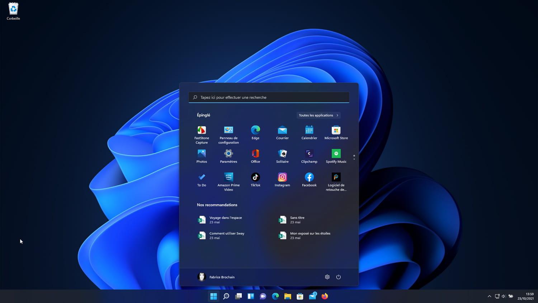 Menu Démarrer de Windows 11: comment le personnaliser?
